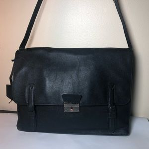 Burberry Rivendale Leather Messenger Bag